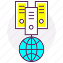 cloud server, data server, database, internet, web server, web storage icon