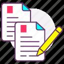 changes, copy editing, design, editing, file, scrip, web icon