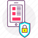 biometrics, credentials, fingerprint, mobile security, security, touch icon