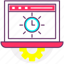 loading time, performance testing, time, timer, wait icon