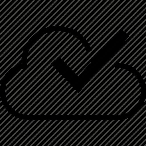 business, check, cloud, development, mark, web icon