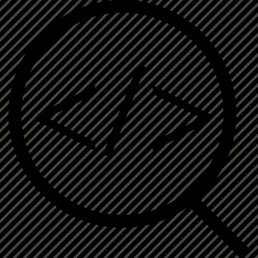 business, code, development, find, web icon