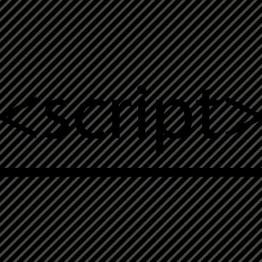 business, development, line, script, web icon