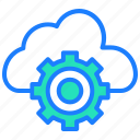 archive, cloud, cloud computing, cloud setting, options, settings icon