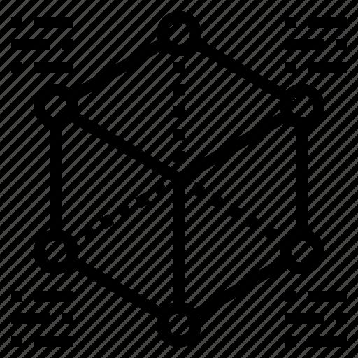 algorithm, data, schema, structured icon