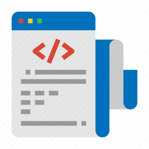 code, coding, list, program icon