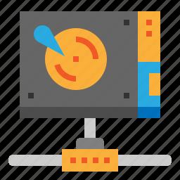data, hosting, server, sharing icon