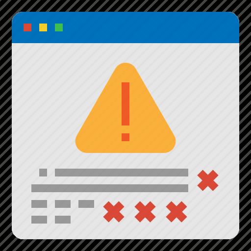 coding, error, internet, web icon