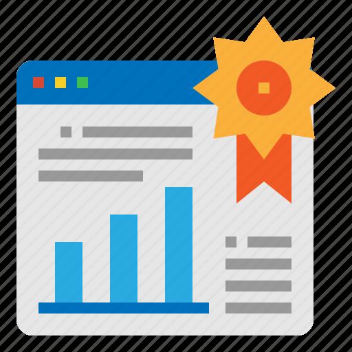 ranking, seo, web, website icon