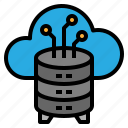 backup, cloud, hosting, system icon
