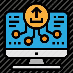 backup, cloud, upload, web icon