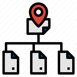 address, location, navigation, web icon