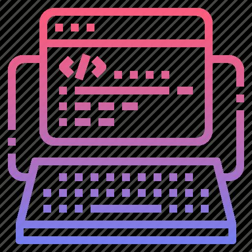 code, coding, program, website icon