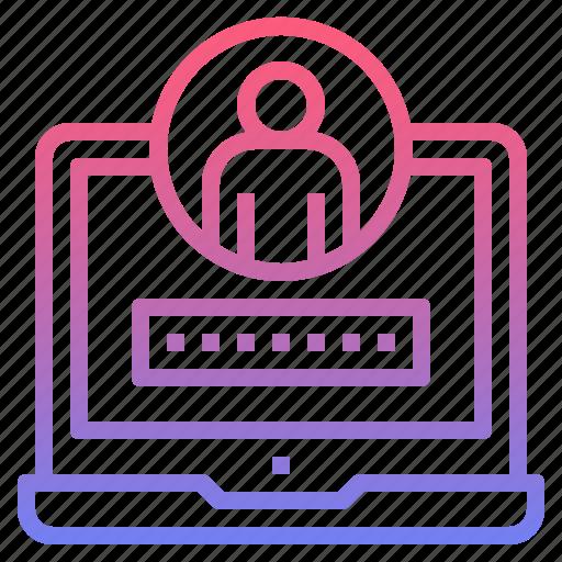 login, password, security, user icon