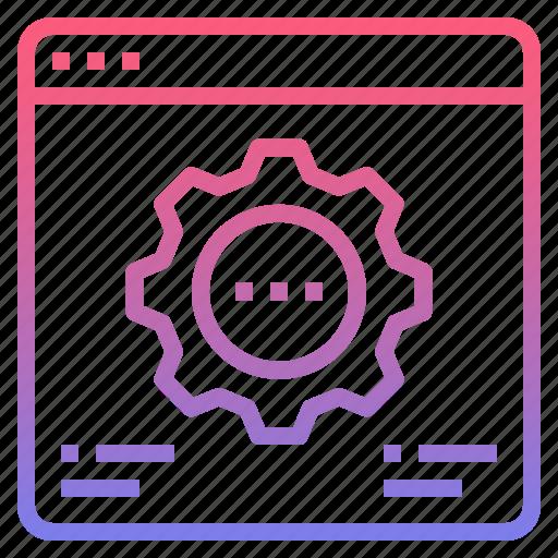analysis, development, optimize, web icon