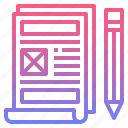 website, prototype, wireframe, usability icon