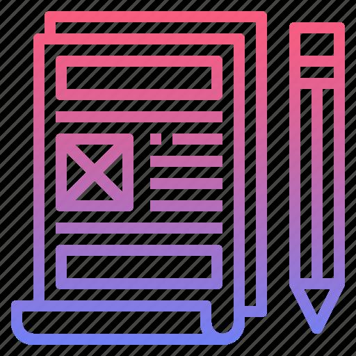 prototype, usability, website, wireframe icon