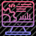 development, seo, website, rank icon