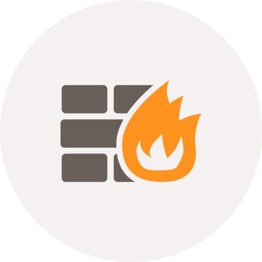 fire, firewall, online protection, safety, security, wall icon