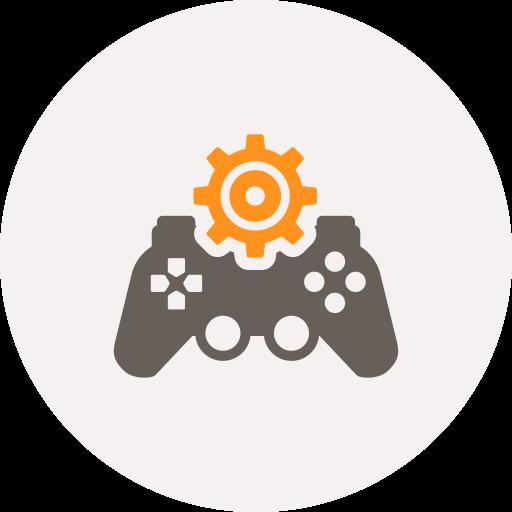 configuration, development, game development, gamepad, gear, multimedia, settings icon