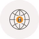 globe, internet, locked, locker, safe, security, world icon