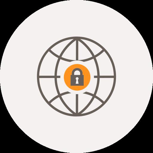 Globe, internet, locked, locker, safe, security, world icon - Free download
