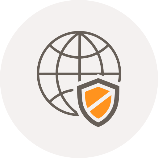 browser, globe, internet, safety, security, shield, world icon