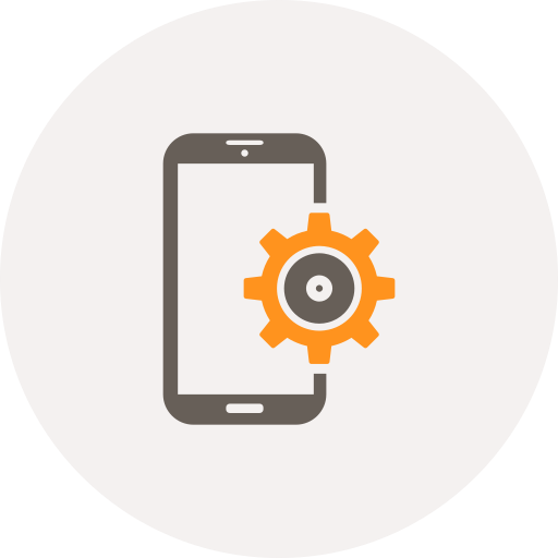 configuration, development, gear, mobile, preferences, settings, smartphone icon