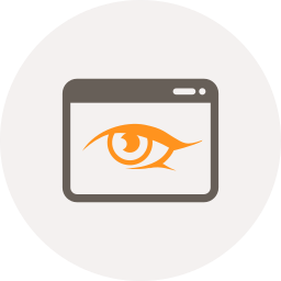 application, browser, eye, see, view, watch, window icon