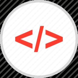 brackets, development, internet, web icon