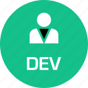 boss, deve, person, user icon
