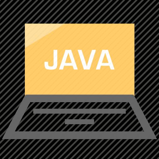 dell, java, language, laptop, pc icon