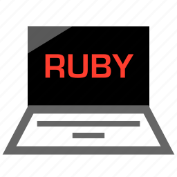 language, laptop, pc, ruby icon