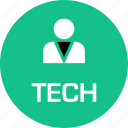 boss, person, tech, user icon
