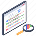 data analytics, data checking, data evaluation, data monitoring, data visualization icon