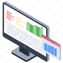 data analysis, data analytics, data evaluation, data monitoring, data visualization icon