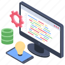 data development, data formatting, data management, digital marketing, software application icon
