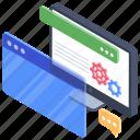 software development, web configuration, web designing, web development, web maintenance icon