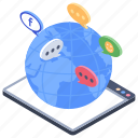 global applications, network communication, social media, social network, social web