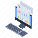 article writing, content writing, creative text, scripting, seo copywriting icon