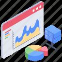 data evaluation, data monitoring, data visualization, web analytics icon