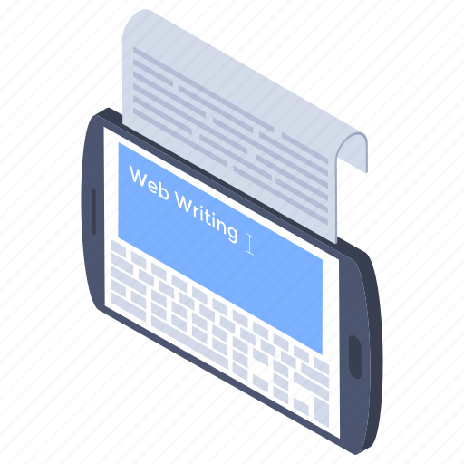 content writing, copywriting, creative text, scripting, typewriter icon