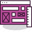 design, internet, layout, page, ui, web, wireframe icon