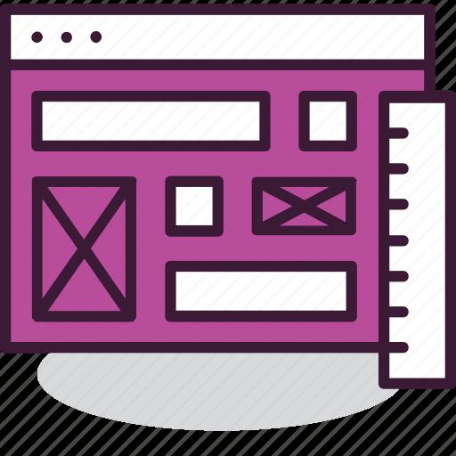 design, internet, layout, page, ui, web, wireframe icon
