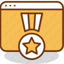 award, internet, ranking, rate, rating, star, website icon