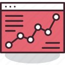 analytics, chart, graph, interent, online, statistics, website icon