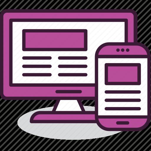 adaptive, design, interface, internet, layout, mobile, website icon