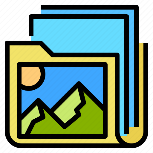 album, bootstrap, gallery, image icon