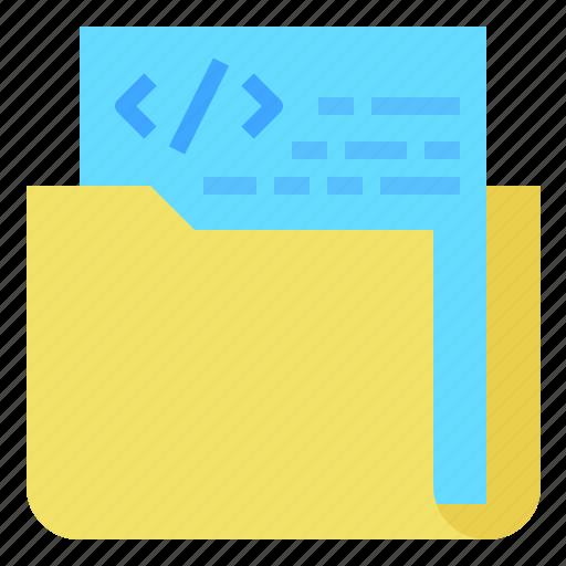data, folder, management, structure icon