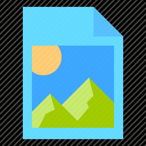 attach, image, logo, picture icon
